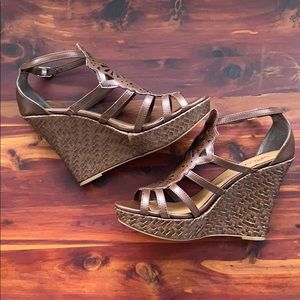 Sbicca | Brown Boho Wedges | Size 8M